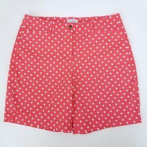Kim Rogers Polka Dots Cotton Stretch Shorts 16